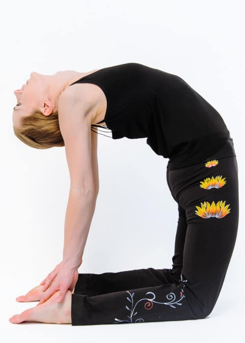 Hand Painted Lotus Yoga Pants