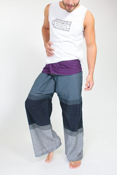 Fishermans Yoga Pants For Men - Grey, Purple, Navy