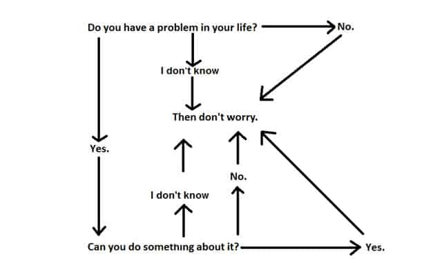 Root chakra problems symptoms include fear of the future and excessive worry. Use this flow chart to help keep those thoughts under control