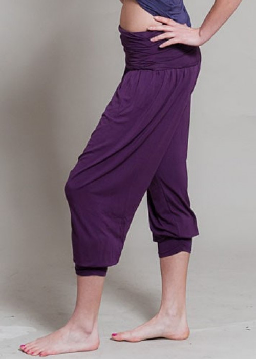 Comfort Flow Yoga Pants - Plum, Harem, Viscose